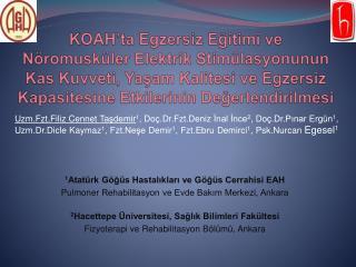 1 Atatürk Göğüs Hastalıkları ve Göğüs Cerrahisi EAH