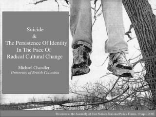 Suicide  	         &   The Persistence Of Identity           In The Face Of