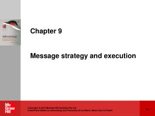 Chapter 9 Message strategy and execution