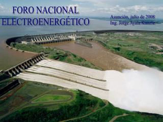 FORO NACIONAL ELECTROENERGÉTICO