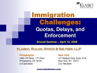 Challenges: Quotas, Delays, and  Enforcement
