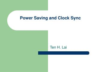 Power Saving and Clock Sync