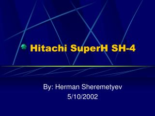 Hitachi SuperH SH-4