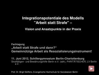 Integrationspotentiale des Modells