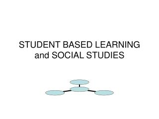 STUDENT BASED LEARNING and SOCIAL STUDIES