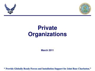 Private  Organizations    March 2011
