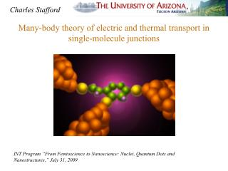 Many-body theory of electric and thermal transport in single-molecule junctions