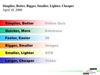 Larger, Cheaper           Video