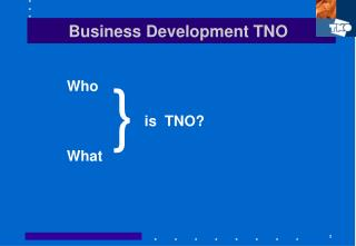Business Development TNO