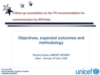 Follow-up consultation on the TFI recommendation for communication for EPI