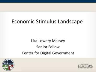 Economic Stimulus Landscape