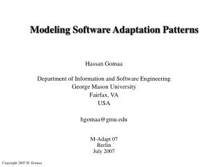 Modeling Software Adaptation Patterns