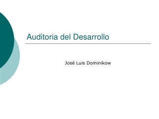 Auditoria del Desarrollo