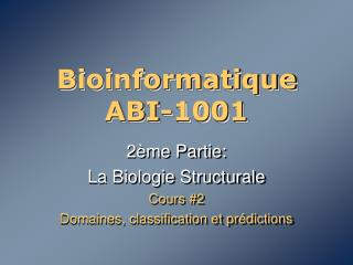 Bioinformatique ABI-1001