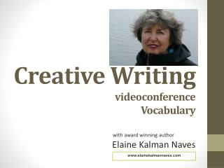 Creative Writing videoconference Vocabulary