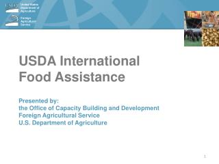 USDA International Food Assistance