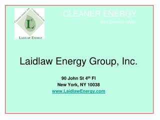 Laidlaw Energy Group, Inc.