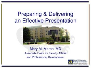 Preparing & Delivering  an Effective Presentation