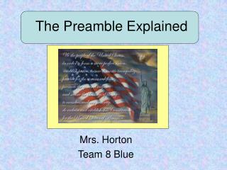 The Preamble Explained