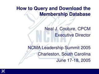 How to Query and Download the Membership Database