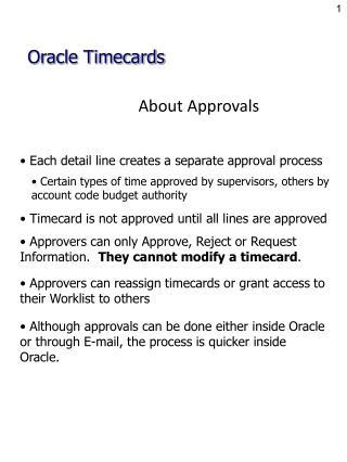 About Approvals