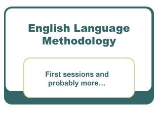 English Language Methodology