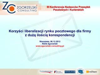 III Konferencja Nadawców Przesyłek Pocztowych i Kurierskich