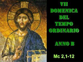 VII DOMENICA  DEL  TEMPO  ORDINARIO  ANNO B