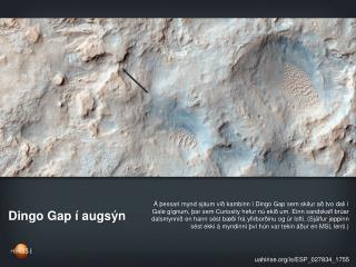 Dingo Gap í augsýn