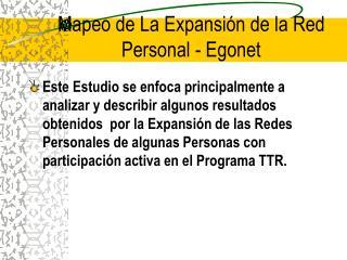 Mapeo de La Expansión de la Red Personal - Egonet