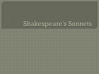 Shakespeare�s Sonnets