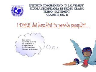 """ISTITUTO COMPRENSIVO """"G. SALVEMINI"""" SCUOLA SECONDARIA DI PRIMO GRADO PLESSO """"SALVEMINI"""""""