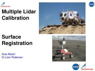 Multiple Lidar Calibration Surface Registration Aras Akbari Dr.Liam Pedersen