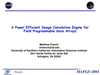 A Power Efficient Image Convolution Engine for Field Programmable Gate Arrays