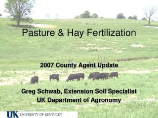 Pasture & Hay Fertilization