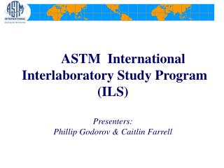 ASTM ILS Program