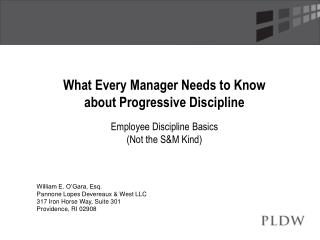 What Every Manager Needs to Know about Progressive Discipline Employee Discipline Basics