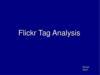 Flickr Tag Analysis