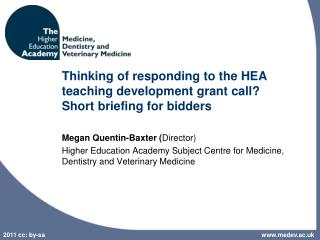Thinking of responding to the HEA teaching development grant call?  Short briefing for bidders