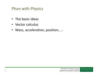 Phun with Physics