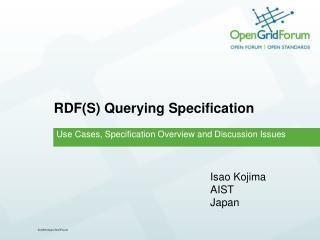 RDF(S) Querying Specification