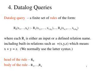 4. Datalog Queries