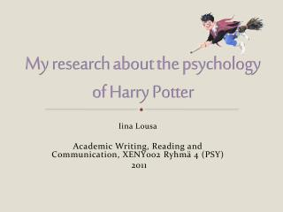 My  research about  the  psychology  of Harry Potter