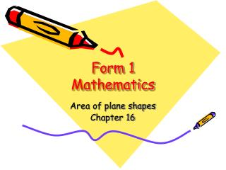 Form 1 Mathematics