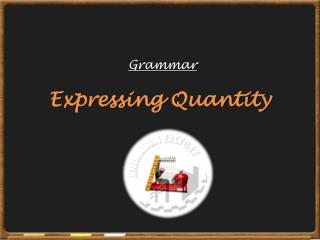 Expressing Quantity
