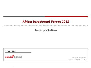 Africa  Investment Forum 2012 Transportation