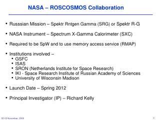 NASA – ROSCOSMOS Collaboration