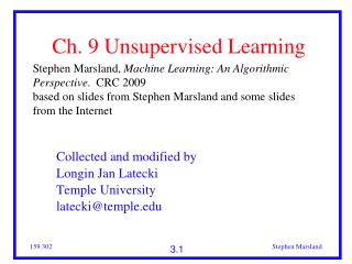 Ch. 9 Unsupervised Learning