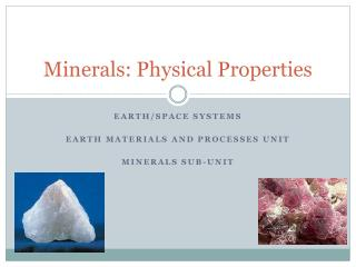 Minerals: Physical Properties
