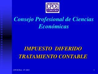 Consejo Profesional de Ciencias Econ�micas